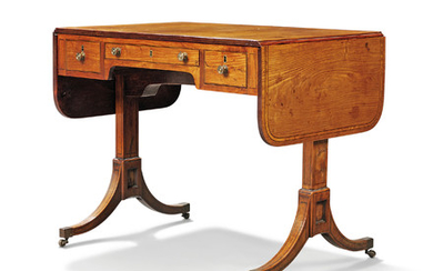 A CHINESE EXPORT ROSEWOOD SOFA TABLE, CIRCA 1800