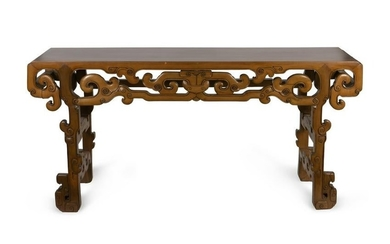 A Chinese Altar Table Height 38 x width 78 x depth 20