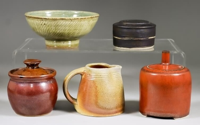 A Collection of Twenty-Four Stoneware Studio Ceramics by Various...