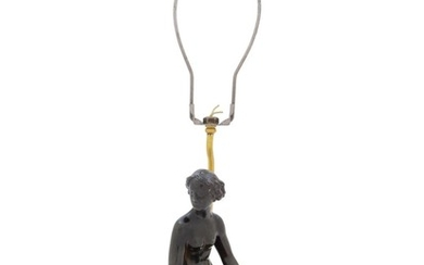 A Danish Bronze Figure Mounted as a Lamp