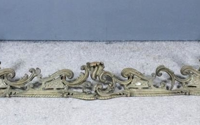 A French Gilt Brass Adjustable Fender, 19th Century, of...