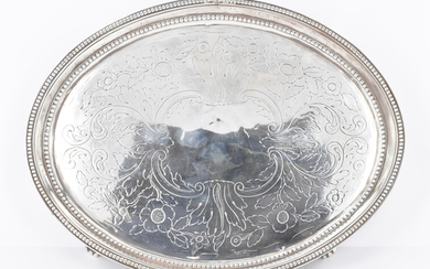A GEORGE III STERLING SILVER TRAY