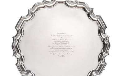 A George V Silver Salver, by Carrington and Co, London,...