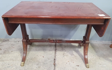 A MAHOGANY DROP END COFFEE TABLE