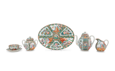 A Partial Set of Chinese Rose Medallion Porcelain Dinner Service
