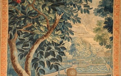 """A Tapestry Fragment """"Figure in the garden"""""""