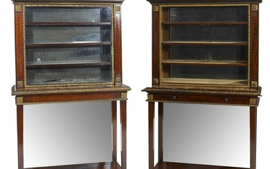 A VERY FINE PAIR OF MATCHED REGENCY PERIOD ROSEWOOD COLLECTION CABINETS