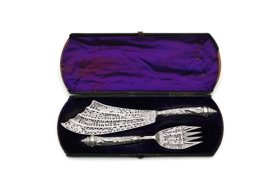 A good pair of Victorian silver fish servers