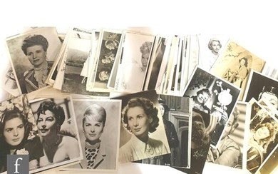 A large collection of 8x10 vintage portraits of mostly femal...