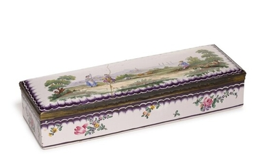 A silver-mounted Sceaux faience box, circa 1900