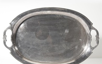 "A sterling silver serving tray 20th century Marked ""Sterling..."