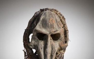 AFIKPO, Nigeria. Mask made from the skull of...