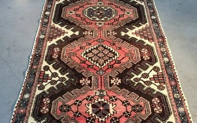 AUTHENTIC VINTAGE PERSIAN RUNNER 3.4x9.8