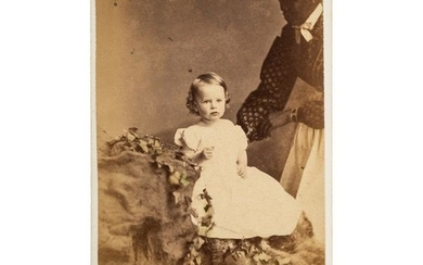 African American Nanny with Baby CDV, ca 1869