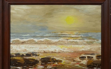 "Al Marchmont, ""Laguna Beach, Fla.,"" 1966, oil on board"