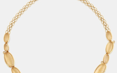 """An H Stern """"Justine"""" 18K gold necklace set with cabochon-cut rock crystal"""