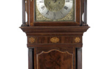 An antique mahogany and oak cased longcase clock.