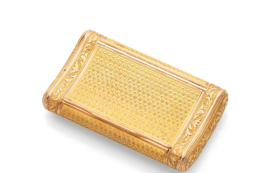 An early 19th century French gold box