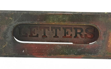 Antique 19th C Architectural Salvage Mail Box Slot