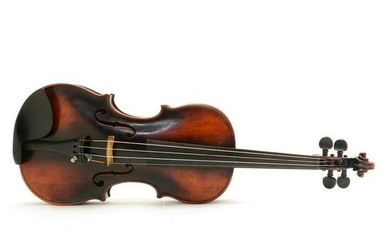 Antique German Violin Labeled Franz Hall, With Two Bows