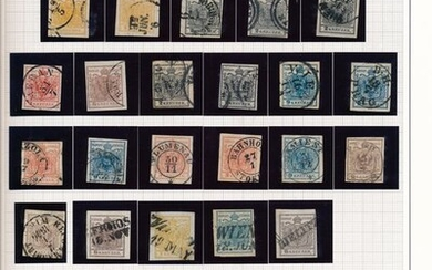 Austria 1850/1870 - Classic collection from no. 1 specialized in stamps and with letters in SAFE album
