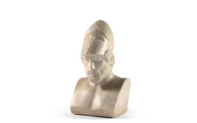 Bust of Pericles in reconstituted white marble.