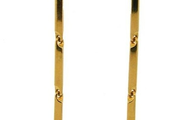 CARTIER Panthere Diamond Yellow Gold Enamel EARRINGS
