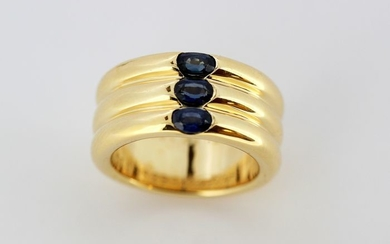 Cartier - 18 kt. Yellow gold - Ring - Sapphires