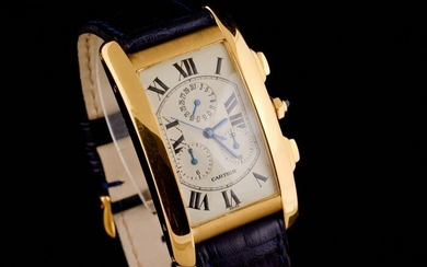 Cartier - Tank Américaine 18K Gold Chronograph- 1730 - Men - 2000-2010