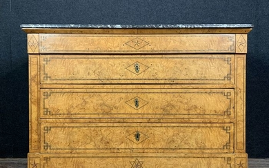 Charles X period chest of drawers in lemon and rosewood - Wood - Early 19th century