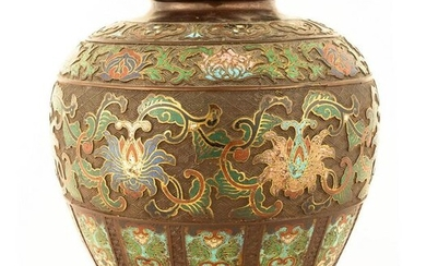 Chinese Bronze and Cloisonné Vase