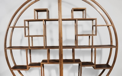 Chinese Jichimu and Other Wood Moon-form Display Shelves, 20th Century FR3SHLM
