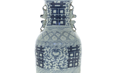 Chinese Large Old Blue and White Porcelain Vase.