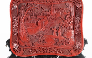 Chinese Molded Lacquer Tray, 20th Century FR3SHLM