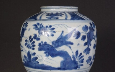 Chinese blue and white porcelain pot from the Wanli period (1) - Blue and white - Porcelain - China - Wanli (1573-1619)