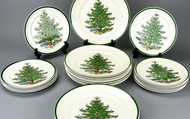 Cuthbertson House England Christmas Plate Service