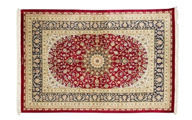Exceptional and very fine silk ghum signed (iran) circa 1985