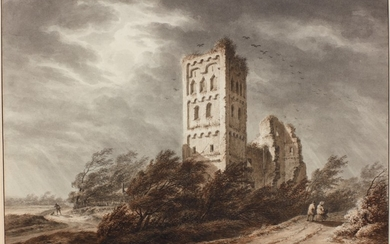 FRANÇOIS JOSEPH PFEIFFER THE YOUNGER | VIEW OF THE ABBEY OF EGMOND