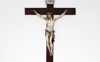 FRENCH DIEPPE SCHOOL, LATE 19TH CENTURY. Crucified Christ.