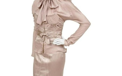 F/W 2003 Vintage Tom Ford for GUCCI nude silk corset