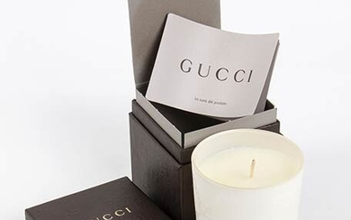 GUCCI 'GUCCISSIMA' CANDLE 2015 ca Guccissima Candle (white glass) with...