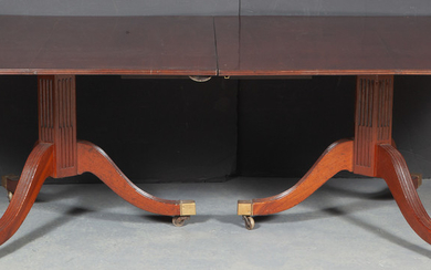 George IV Mahogany Double-Pedestal Dining Table