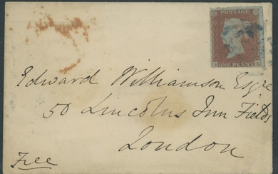 Great Britain 1841 One Penny Red-Brown 1861 (7 Nov.) small envelope to London