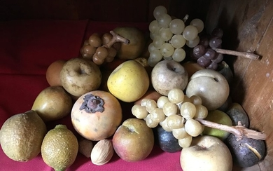 Hard stone fruit set: figs, pears, white and...