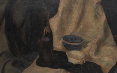 "Jan Stasiniewicz (1907 - 1966), ""Still life with a bottle"""