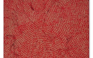Jennifer Guidi (b. 1972), Energy of Love (Painted Universe Mandala SF #4F, Red, Natural Ground)