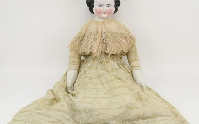 LOT OF CHINA/PARIAN DOLL(S).