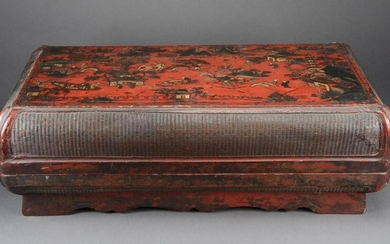 Lacquer Box with Basket Weave Sides