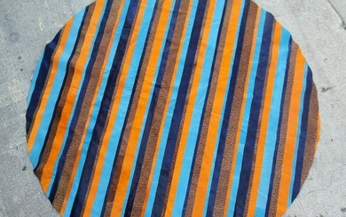 Large mid century multi colored Cow Hide