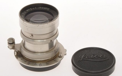 Leitz very rare early Leica screw mount lens 5cm 50mm F:2 Summar RGD Nickel, c.1933 nice condition